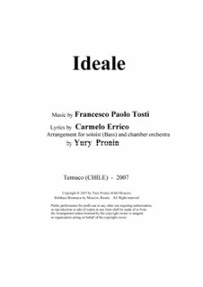 Ideale: For solo and chamber orchestra by Francesco Paolo Tosti