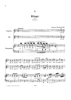 Duos für Stimmen und Klavier, Op.66: Duos für Stimmen und Klavier by Johannes Brahms