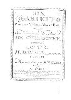 Sechs Streichquartette, Op.6: Sechs Streichquartette by Jean-Baptiste Davaux