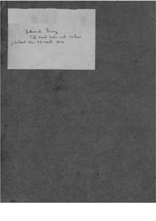 Cantata to Karl Hals, EG 164: Cantata to Karl Hals by Edvard Grieg