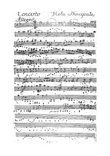 Bratschenkonzert in D-Dur: Bratschen Solo Stimme by Franz Anton Hoffmeister