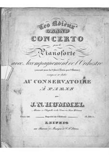 Konzert für Klavier und Orchester Nr.4 in E-Dur 'Les adieux', Op.110: Konzert für Klavier und Orchester Nr.4 in E-Dur 'Les adieux' by Johann Nepomuk Hummel