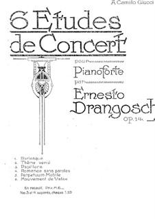 Sechs Konzert-Etüden, Op.14: Vollsammlung by Ernesto Drangosch
