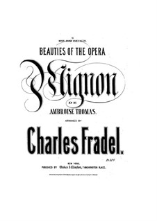 Mignon: Romance, for Piano by Ambroise Thomas