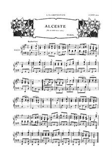 Alceste, Wq.44: Akt II, Air de ballet, für Klavier by Christoph Willibald Gluck