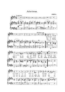Alcina, HWV 34: Verdi prati, für Stimme und Klavier by Georg Friedrich Händel