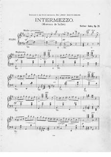 Intermezzo für Klavier: Intermezzo für Klavier by Esther Kahn