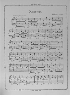 Xmastide. Piece for Piano: Xmastide. Piece for Piano by Esther Kahn