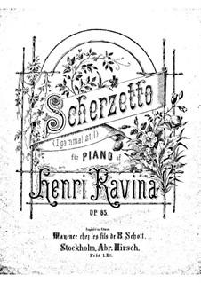 Scherzetto (a-moll), Op.85: Scherzetto (a-moll) by Jean-Henri Ravina