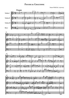 Pavane und Chaconne in g-Moll: Partitur by Henry Purcell