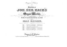 Präludium und Fuge in a-Moll, BWV 543: Präludium. Bearbeitung für Klavier, vierhändig by Johann Sebastian Bach