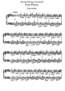 Vier Stücke, Op.11: Vollsammlung by Nikolai Rimsky-Korsakov