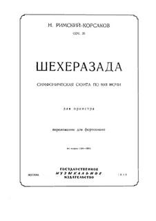 Scheherazade, Op.35: Für Klavier by Nikolai Rimsky-Korsakov