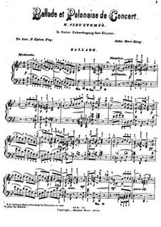 Ballade und Polonäse, Op.38: Für Klavier by Henri Vieuxtemps