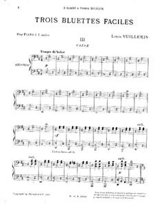 Trois bluettes faciles: No.3 Valse by Louis Vuillemin