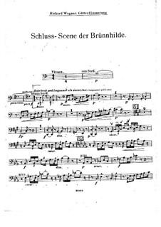 Götterdämmerung, WWV 86d: Akt III, Szene III (Fragment) – Cellostimme by Richard Wagner