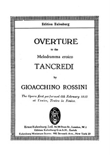 Tancredi: Ouvertüre by Gioacchino Rossini