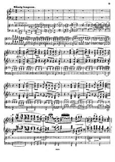 Konzert für Klavier und Orchester, Op.18: Teil II für zwei Klaviere, vierhändig by Hermann Götz