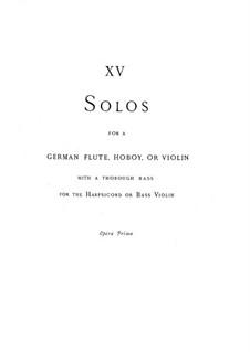 Sonaten für Flöte (oder Oboe, oder Violine) und Basso Continuo, HWV 359-373 Op.1: Sonaten für Flöte (oder Oboe, oder Violine) und Basso Continuo by Georg Friedrich Händel