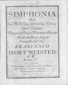Sinfonie Nr.2 in C-Dur: Sinfonie Nr.2 in C-Dur by Franz Anton Hoffmeister