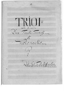 Trio für zwei Flöten und Cello Nr.1 in D-Dur: Trio für zwei Flöten und Cello Nr.1 in D-Dur by Franz Anton Hoffmeister
