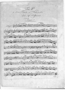 Sechs Trios für zwei Flöten und Cello, Op.31: Nr.3 in C-Dur by Franz Anton Hoffmeister