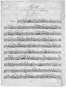 Sechs Trios für zwei Flöten und Cello, Op.31: Nr.4 in Es-Dur by Franz Anton Hoffmeister