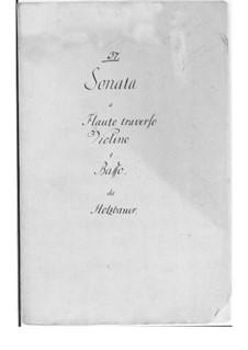 Sonate für Flöte, Violine und Basso Continuo: Sonate für Flöte, Violine und Basso Continuo by Ignaz Holzbauer