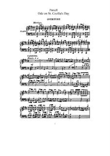 Ode an die heilige Cäcilie, Z.328: Klavierauszug mit Singstimmen by Henry Purcell