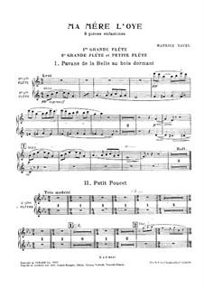 Meine Mutter die Gans. Suite, M.60: Für Orchester – Flötenstimme by Maurice Ravel