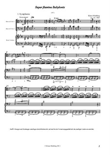 Super flumina Babylonis, Op.10: Super flumina Babylonis by Klaus Miehling