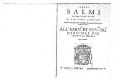 Salmi a cinque, trè voci, e due violini, Op.5: Salmi a cinque, trè voci, e due violini by Giovanni Legrenzi