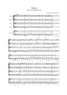 Il Giosuè. Sinfonia: Vollpartitur by Giovanni Battista Bononcini