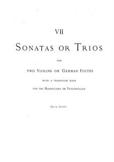 Trio Sonaten, HWV 396-402 Op.5: Trio Sonaten by Georg Friedrich Händel