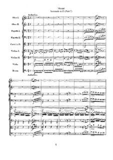 Serenade für Orchester Nr.9 in D-Dur 'Posthorn', K.320: Teil II by Wolfgang Amadeus Mozart