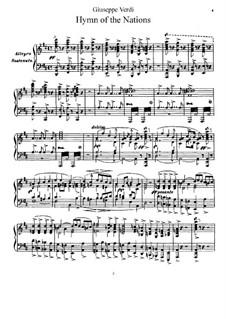Hymne der Nationen: Hymne der Nationen by Giuseppe Verdi