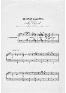 Orizaba Gavotte: Orizaba Gavotte by Auguste Wiegand