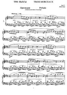 Drei Klavierstücke, Op.57: Für einen Interpreten by Anatoli Ljadow