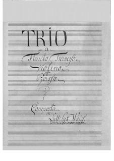 Trio für Flöte, Violine und Basso Continuo: Stimmen by Karl Weiss