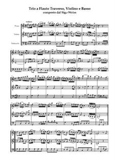 Trio für Flöte, Violine und Basso Continuo: Vollpartitur by Karl Weiss