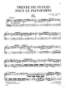 Sechsunddreissig Fugen, Op.36: Nr.25-36 by Anton Reicha