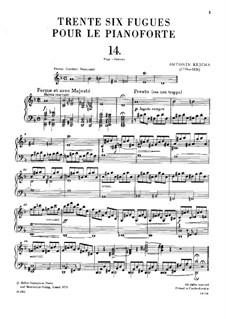 Sechsunddreissig Fugen, Op.36: Nr.14-16 by Anton Reicha