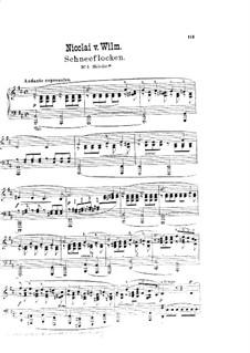 Schneeflocken: Nr.3 Melodie by Nicolai von Wilm
