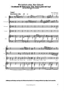 Wie lieblich schön, Herr Zebaoth, Op.102: Wie lieblich schön, Herr Zebaoth by Klaus Miehling