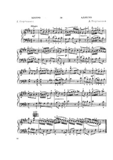 Allegro in E-Dur: Allegro in E-Dur by Giovanni Battista Pergolesi