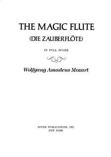 Vollständige Oper: Partitur by Wolfgang Amadeus Mozart