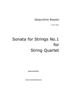 Sei sonate a quattro: Sonate Nr.1 – Partitur by Gioacchino Rossini
