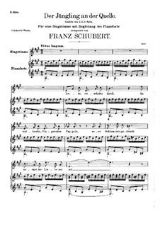 Der Jüngling an der Quelle, D.300: A-Dur by Franz Schubert
