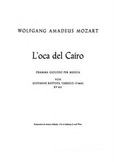Die Gans von Kairo, K.422: Vollpartitur by Wolfgang Amadeus Mozart