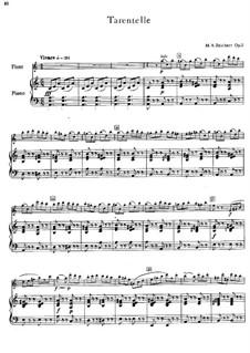 Tarantella für Flöte und Klavier: Tarantella für Flöte und Klavier by Mathieu-André Reichert